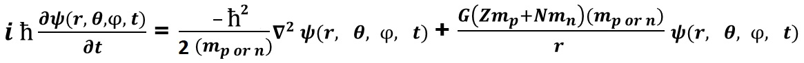 Schrodinger Wave Equation - Nuclear Gravity Field