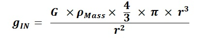 Substitute Density and Volume for Mass in Nuclear Internal Gravity