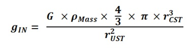 Substitute Density and Volume for Mass in Nuclear Internal Gravity with r-CST and r-UST